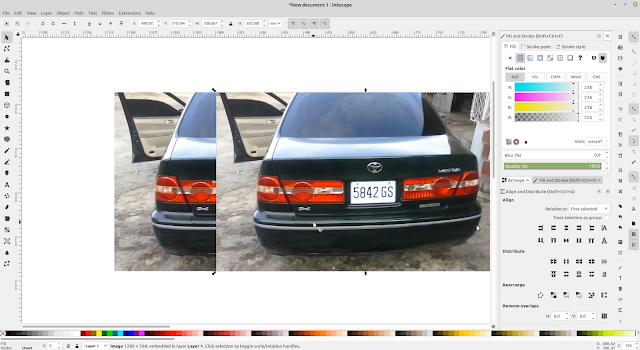 Cara Blur atau Mengaburkan Foto di Inkscape