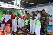 Dansatgas Yonif RK 136/TS Resmikan TPA Ar-Rahmat Tuah Sakti Batu Gajah di Haruku