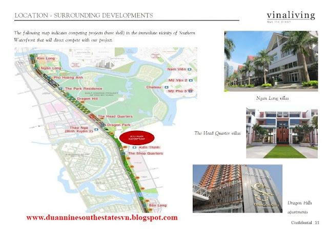 Vị trí dự án Nine South Estates Nam Sài Gòn VinaCapital NhaBe
