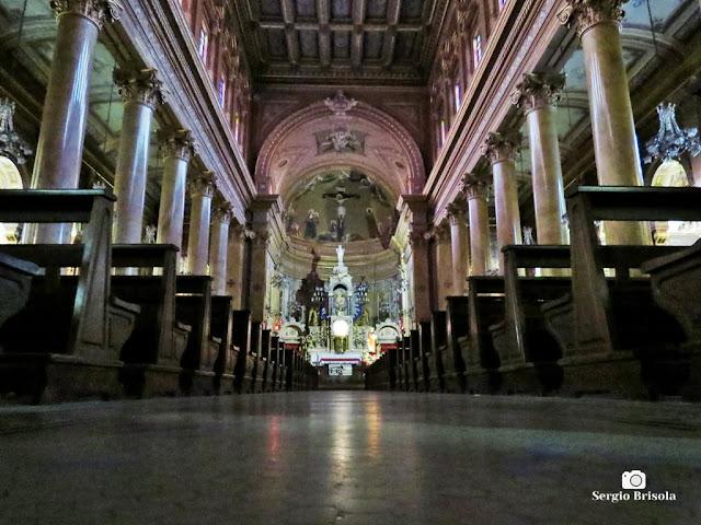 Vista artística do interior da Paróquia Santuário Sagrado Coração de Jesus - Campos Elíseos - São Paulo