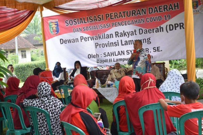 DPRD Lampung Sahlan Syukur Gelar Sosperda Nomor 1 Tahun 2019