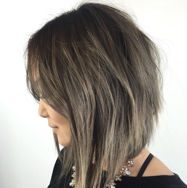 inverted bob short hair