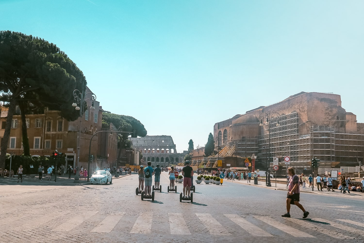 Rome Italy Streets, Segway Tours in Italy, Contiki Europe