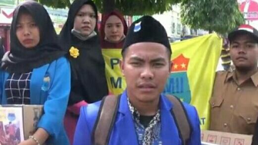 Mahasiswa Langkat Gelar Aksi Galang Dana Untuk Korban Gempa Lombok