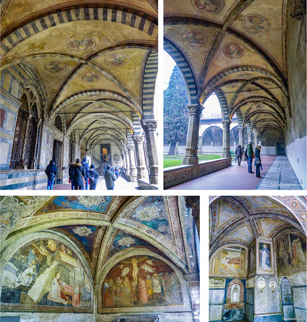 Claustro Verde e Capela da Anunciação, na Basílica de Santa Maria Novella, Florença