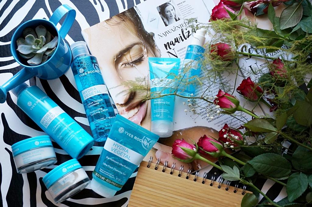 Yves Rocher Hydra Vegetal pielęgnacja twarzy kosmetyki