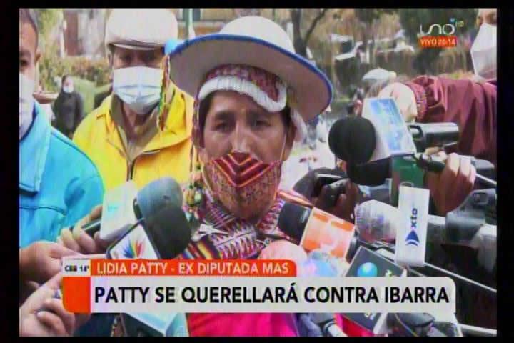 Patty anuncia querella contra Melisa Ibarra por sedición y terrorismo