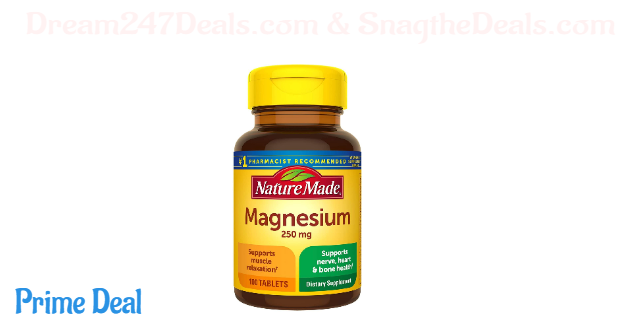 Nature Made Magnesium Oxide 250 mg Tablets, 100 Count for Nutrition Support (Packaging May Vary)