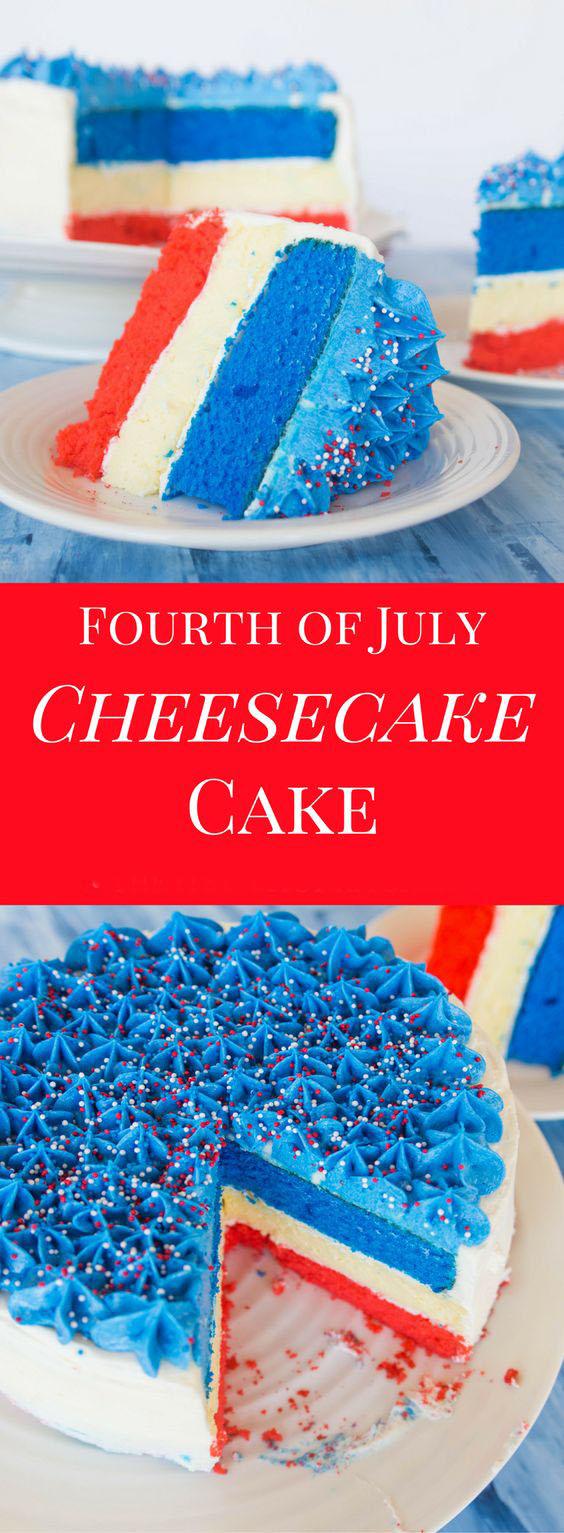 Fourth Of July Cheesecake Cake