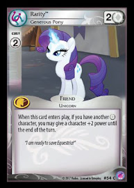 My Little Pony Rarity, Generous Pony Seaquestria and Beyond CCG Card