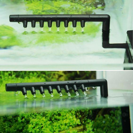 bộ phun tia giúp giảm sức mạnh của dòng nước, an toàn cho bể thủy sinh