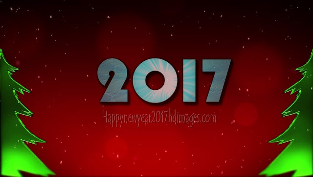 New Year 2017 HD Images With  Sparkling Background  Download