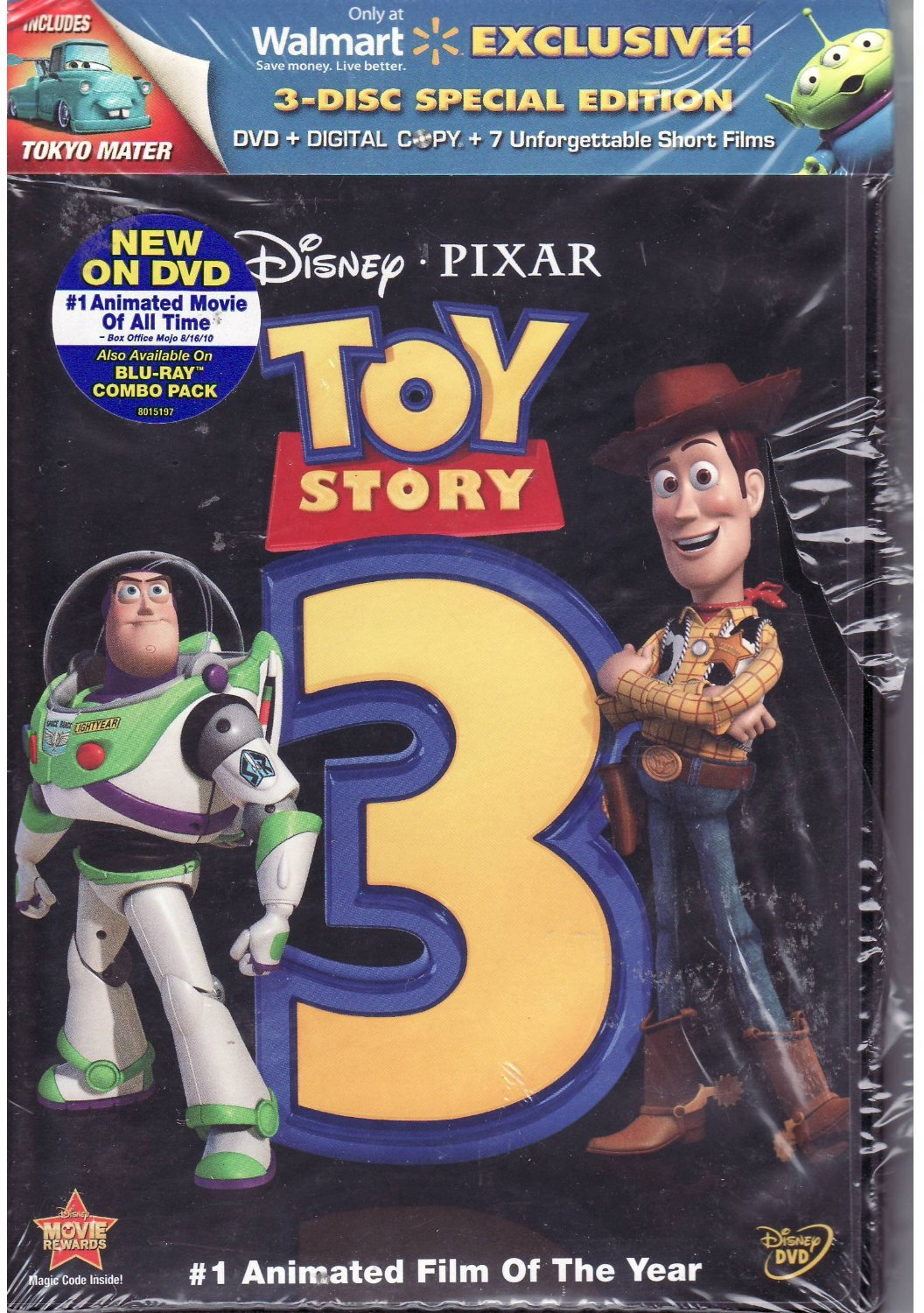 bluray  dvd exclusives toy story 3 walmart exclusive 3