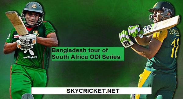 RSA v Ban ODI Series Live Telecast