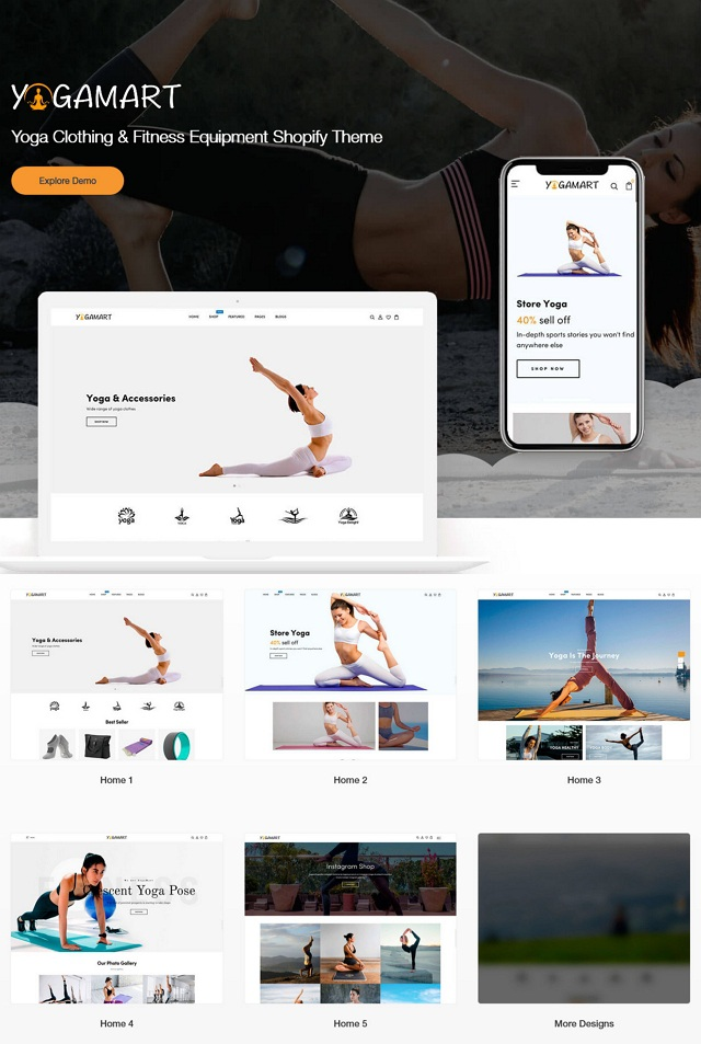 Yoga Clothing & Fitness Equipment Shop Theme