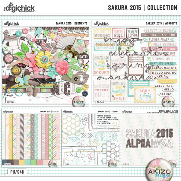 Sakura 2015  Collection by Akizo Designs
