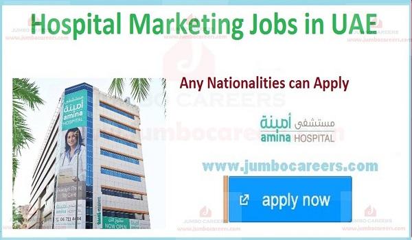 latest marketing jobs in hospital uae
