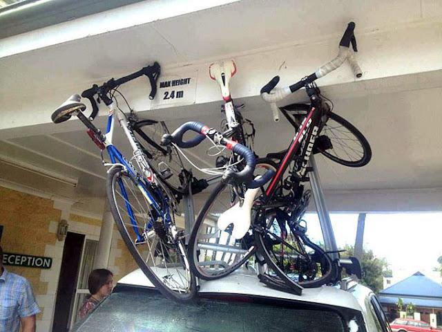 N 227 O Esque 231 A Que Sua Bike Est 225 No Teto Do Carro Lobi