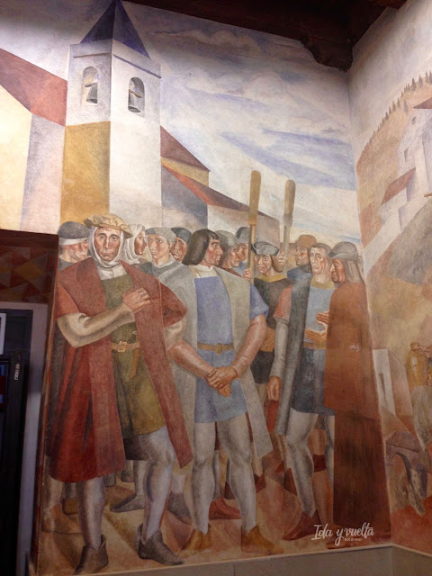 Monasterio de La Rábida, fresco de Vázquez Díaz