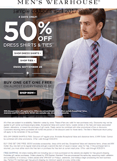 free Men's Wearhouse coupons for april 2017