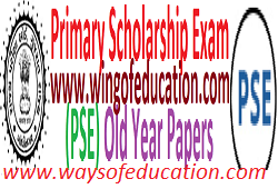 PSE(Primary Scholarship Exam) Old Paper For Std-5 Students