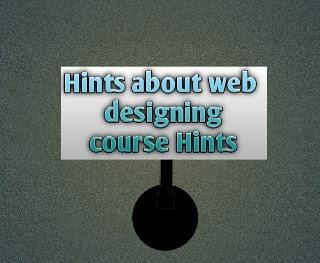 Web design course hints