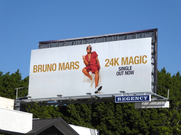 Bruno Mars 24k Magic billboard