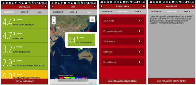 6 Cara Mendeteksi Terjadinya Gempa Bumi Menggunakan Aplikasi Android