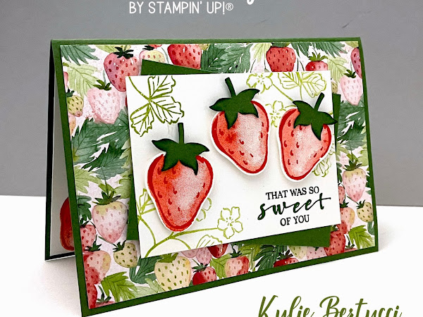 NEW Sweet Strawberry Bundle with Berry Delightful Designer Series Paper