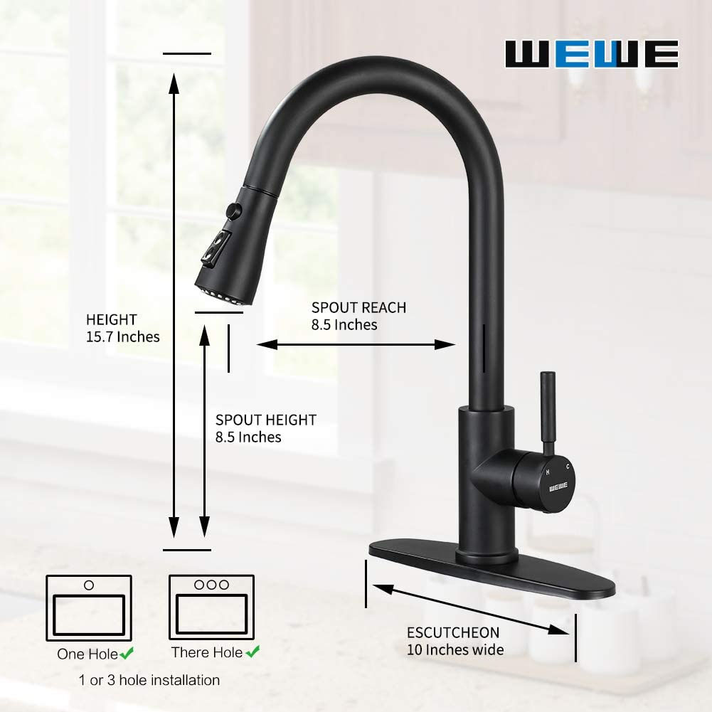 Kitchen Faucets with Pull Down Sprayer