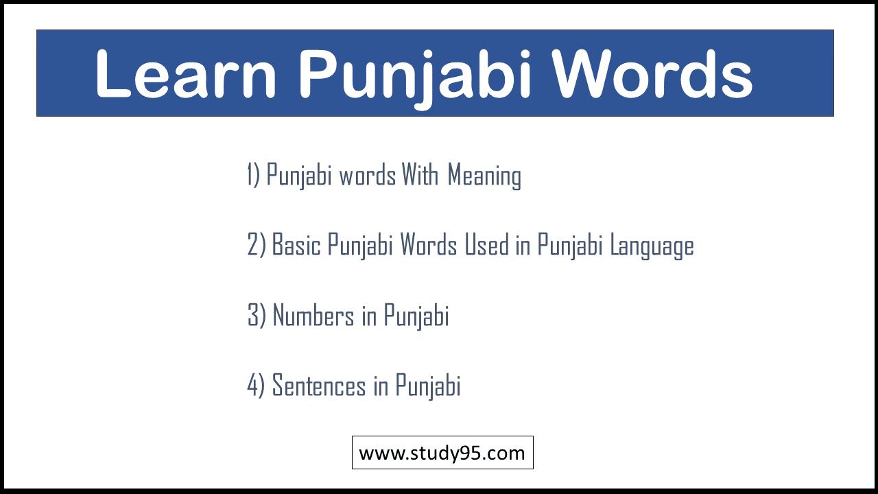 Sentences in Punjabi