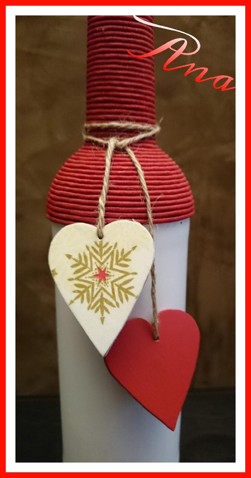 Un rinkon de mi mundo botellas decoradas y feliz navidad for Botellas de vidrio decoradas para navidad