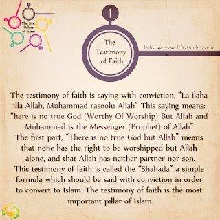 rukun islam syahadat