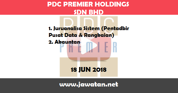 Jawatan Kosong di PDC Premier Holdings Sdn Bhd (Premier)
