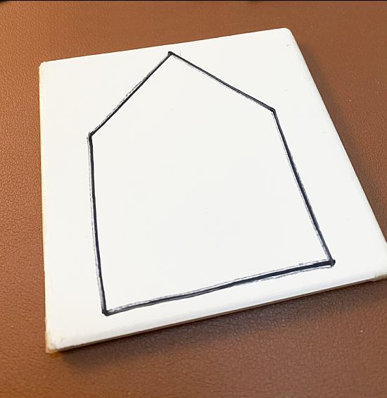 Sharpie traced house shape
