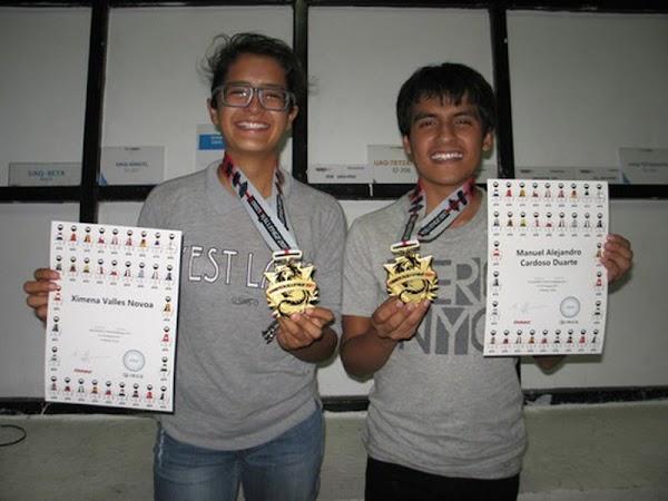 Alumnos mexicanos ganan concurso internacional de robótica, en China.