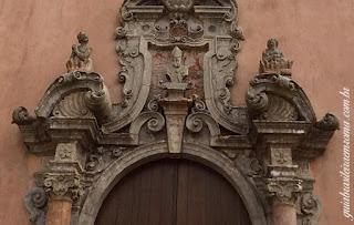 Igreja de São Martinho, Erice, Trapani - detalhe do portão barroco