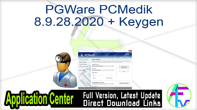 PGWare PCMedik 8.9.28.2020 + Keygen
