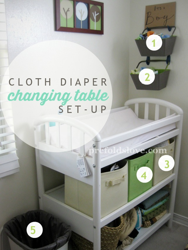 Cloth Diaper Changing Table Set-up