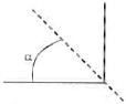 Menandai titik sambungan benang yang membentuk sudut siku-siku dan titik lain pada benang penghubung neraca pegas ketiga, kemudian buatlah garis seperti pada gambar berikut