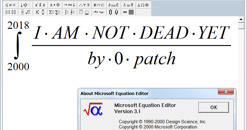 0patch Blog: Micropatching Brings The Abandoned Equation