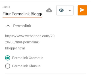 Fitur Permalink Blogger
