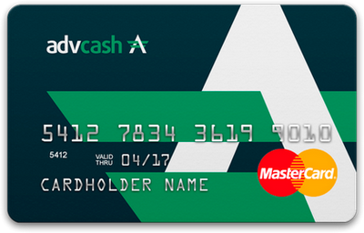 advcash advanced cash mastercard card cartão