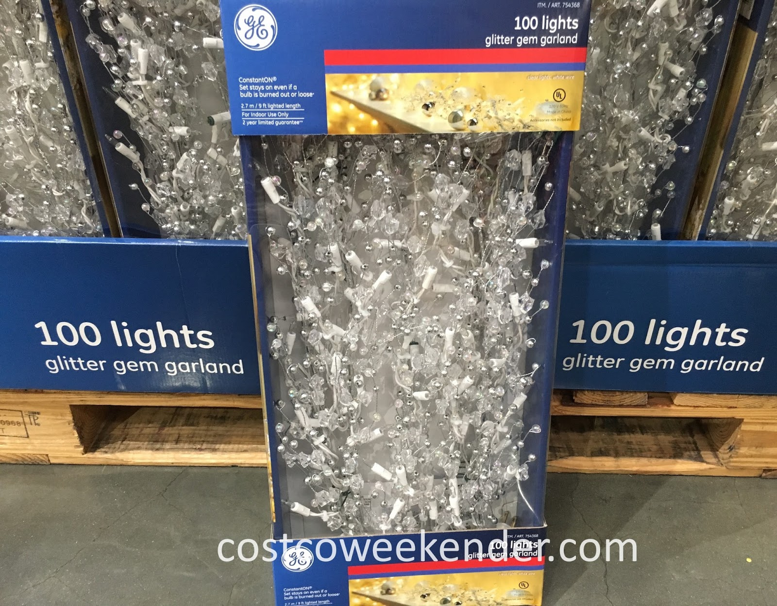 Brighten up your home with the GE Glitter Gem Garland