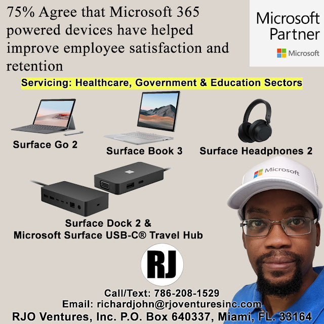 New Microsoft Surface Devices for Business; Surface Go 2, Surface Book 3, Surface Headphones 2, Surface Dock 2 & Surface USB-C Travel Hub [RJOVenturesInc.com]