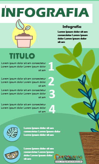 Plantilla para infografía modificable en Word modelo 12
