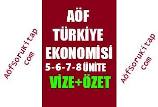 Aöf İşletme, Aöf Türkiye Ekonomisi ders özetleri, Türkiye Ekonomisi, Türkiye Ekonomisi 4 5 6 7 8  ünite özetleri, Aofsorukitap.com, aofsoru, aofnot, aofozet