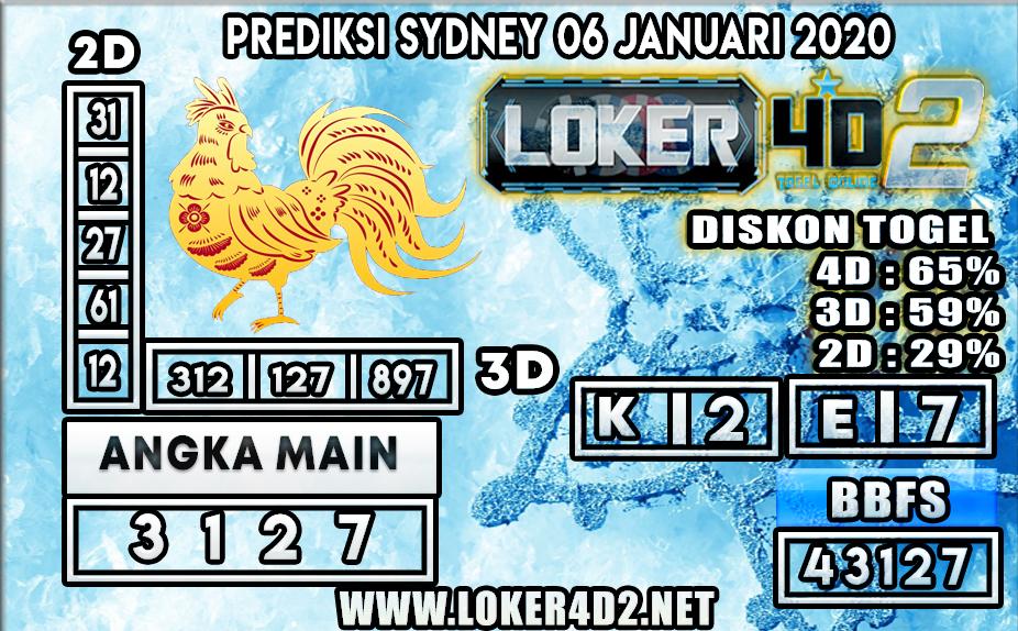 PREDIKSI TOGEL SYDNEY LOKER4D2 06 JANUARI 2020