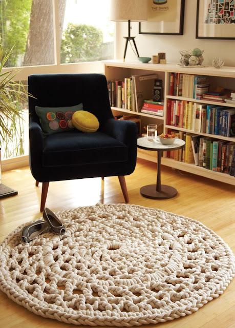 Tapete de Crochê como usá-lo em sua casa