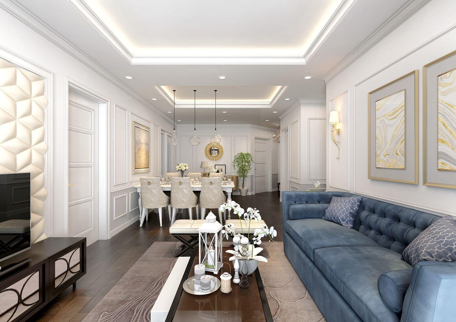 Thiết kế không gian tinh tế trong căn hộ Sunshine Garden